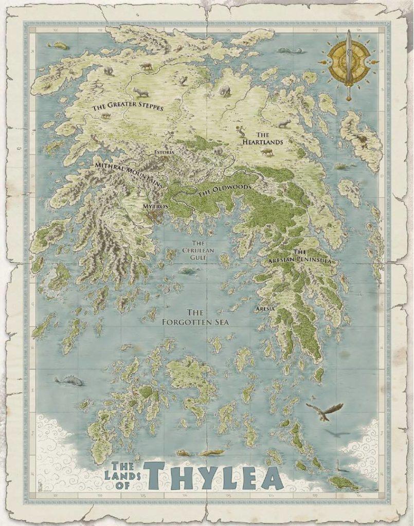 mappa ambientazione Odyssey of the Dragonlords