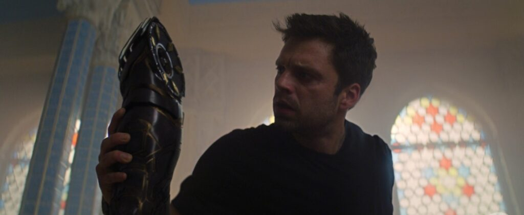 Bucky arm The Falcon and The Winter Soldier